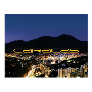 Cartão Postal Caracas em a noite
