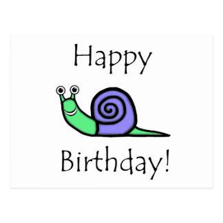 Cartão Postal Caracol do aniversário