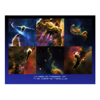 Cartão Postal Característica fim-UPS da nebulosa de Carina