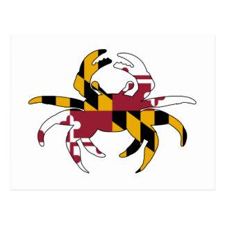 Cartão Postal Caranguejo da bandeira de Maryland