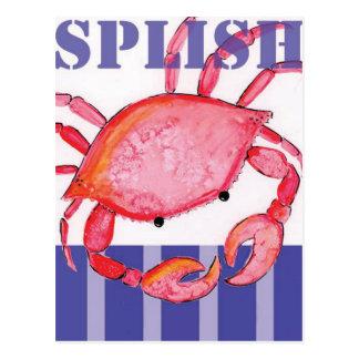 Cartão Postal Caranguejo de Splish