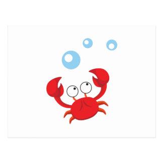 Cartão Postal Caranguejo vermelho