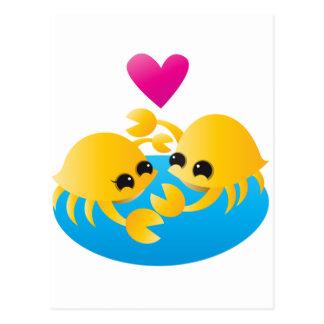 Cartão Postal Caranguejos do amor
