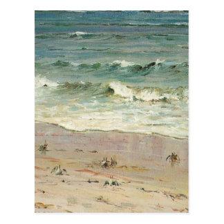 Cartão Postal Caranguejos na praia - Howard Hitchcock