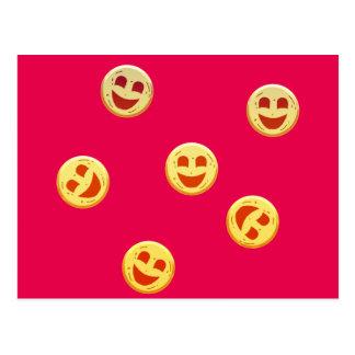 Cartão Postal caras felizes dos biscoitos