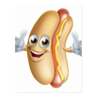 Cartão Postal Caráter do Hotdog