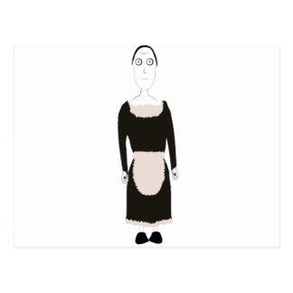 Cartão Postal Caráter gótico da empregada doméstica do Victorian