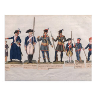 Cartão Postal Caráteres da Revolução Francesa