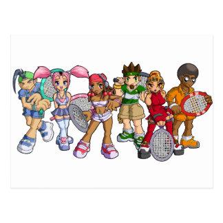 Cartão Postal Caráteres do tênis do Anime