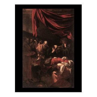 Cartão Postal Caravaggio a morte do Virgin