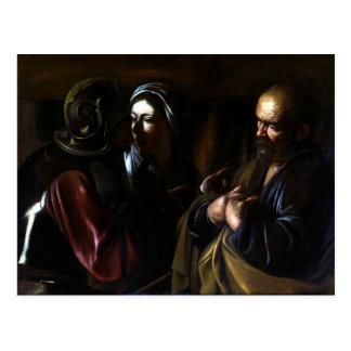 Cartão Postal Caravaggio a recusa de St Peter
