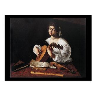 Cartão Postal Caravaggio o jogador do alaúde