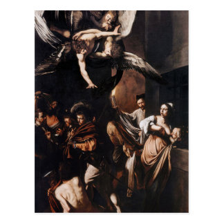 Cartão Postal Caravaggio - os sete trabalhos da pintura do