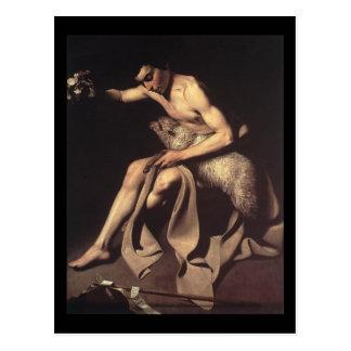 Cartão Postal Caravaggio St John o baptista