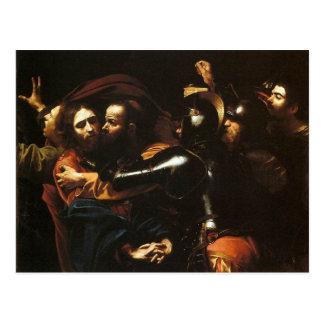 Cartão Postal Caravaggio - tomada do cristo - trabalhos de arte