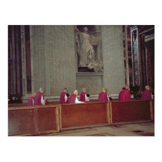 Cartão Postal Cardeais que acompanham Papa João Paulo II