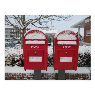 Cartão Postal Cargo Danmark -- Caixas postais dinamarquesas na