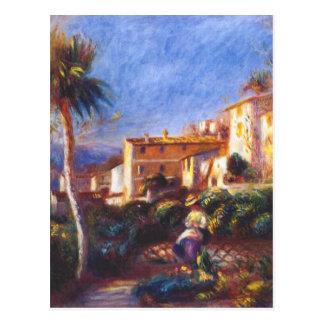 Cartão Postal Cargo do la do de da casa de campo em cagnes