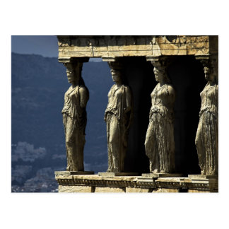 Cartão Postal Cariátides, Acroplis, Atenas