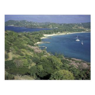 Cartão Postal Caribe, Índias Ocidentais, St Lucia. Vista de