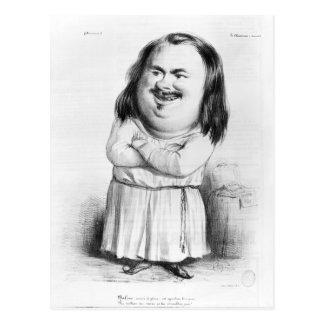Cartão Postal Caricatura de Honore de Balzac