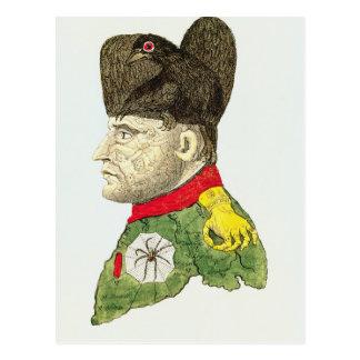 Cartão Postal Caricatura de Napoleon Bonaparte