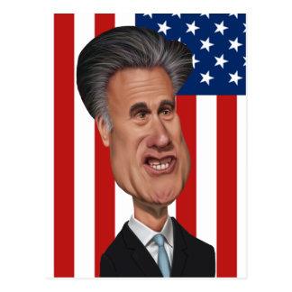 Cartão Postal Caricatura EUA de Mitt Romney
