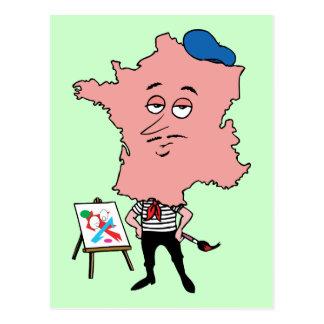 Cartão Postal Caricatura francesa da lembrança das viagens