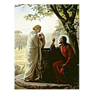 Cartão Postal Carl Bloch: Mulher na pintura boa
