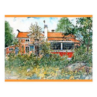 Cartão Postal Carl Larsson: A casa de campo, pintando por