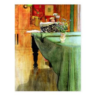 Cartão Postal Carl Larsson: Brita no piano