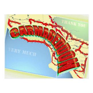 Cartão Postal Carmageddon autoestrada de Los Angeles será o