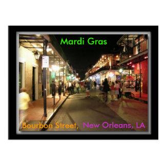 Cartão Postal Carnaval da rua de Bourbon, Nova Orleães, LA