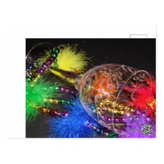 Cartão Postal Carnaval do arco-íris