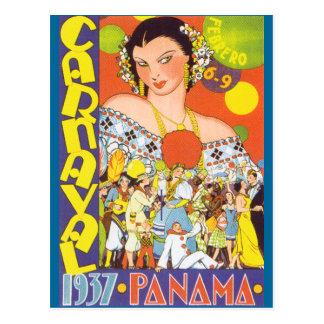 Cartão Postal Carnaval em Panamá