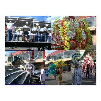 Cartão Postal Carnaval em Trinidad