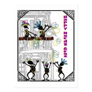 Cartão Postal Carnaval feliz--Cena do balcão