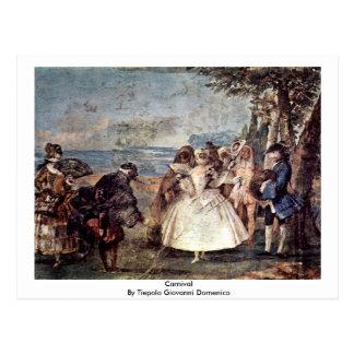 Cartão Postal Carnaval por Tiepolo Giovanni Domenico