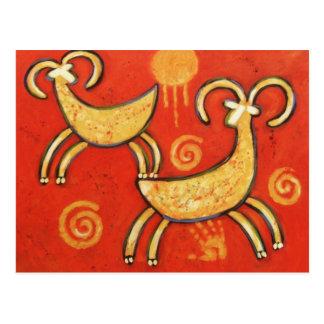Cartão Postal Carneiros étnicos primitivos do Big Horn