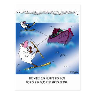 Cartão Postal Carneiros no esqui de água da arca