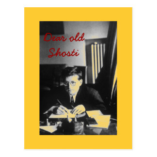 "Cartão Postal ""Caro Shosti velho """