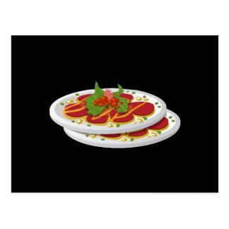 Cartão Postal Carpaccio suculento da comida do pulso aleatório
