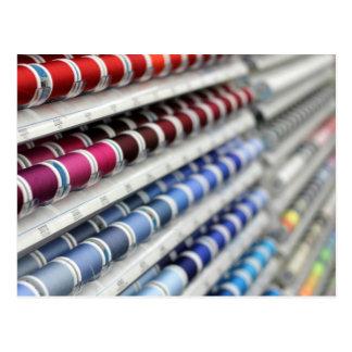 Cartão Postal Carretéis da linha Sewing