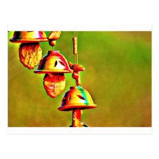 Cartão Postal Carrilhões de madeira coloridos