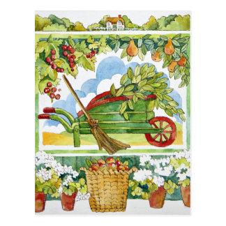 Cartão Postal Carrinho de mão - bordadura 2012 do jardim