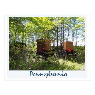Cartão Postal Carrinhos de Amish