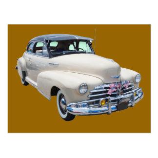 Cartão Postal Carro 1948 antigo de Chevrolet Fleetmaster