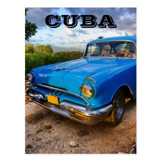 Cartão Postal Carro clássico americano velho em Trinidad, Cuba
