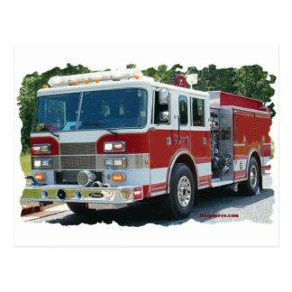 Cartão Postal Carro de bombeiros de Pierce