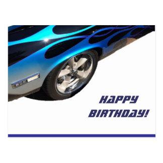 Cartão Postal carro de competência do aniversário